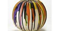 Color Drip Pumpkin with FolkArt Acrylics - No carving ideas for #halloween decor with Paints #plaidcrafts