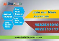 To Get Free Trial Missed call @ 9582541010  Call US @ 8822117117 Mail Us = starindiamarket@gmail.com