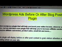 http://jvz9.com/c/6987/78813 - Wordpress Ads Before Or After Blog Posts Plugin  Wordpress plugin installs your ads either before or after each blog post, throughout your Wordpress blog, suing this simple plugin.  It will rotate between ads, which can ...