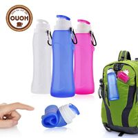 Free: New 500ML Creative Collapsible Foldable Silicone drink Sports Water Bottle Camping Travel my plastic bicycle bottle. You pay only for Shipping and Handling! $0.00