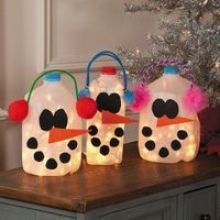 Snowman Milk Jug craft- cute!