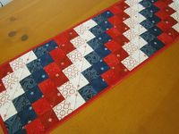 Patriotic Quilted Table Runner by PatchworkMountain on Etsy, $38.00