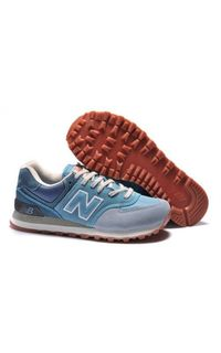 New Balance 574 Women Shoes Mesh Blue