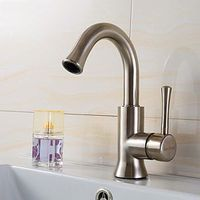 High Quality Contemporary Centerset Rotatable Stainless Steel Bathroom Sink Faucet