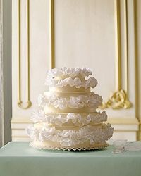 What makes a wedding gown special? Extraordinary embellishments, of course. Here, desserts get adorned with fabulous flounces, beautiful beading, and more. Play