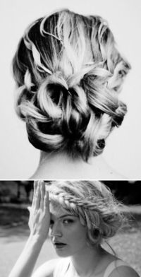 Wedding Hair......i just like the bun...the braid is a little strange