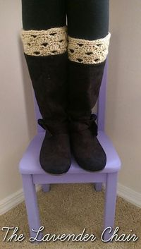 Stacked Shells Boot Cuffs free crochet pattern - The Lavender Chair