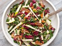 Kale, apple & pancetta salad