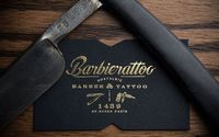 Barbierattoo on Behance. this place is the epitome of male perfection in my book and the design is exquisite!