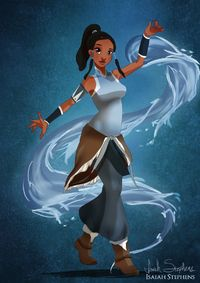 Disney Halloween: Tiana as Korra