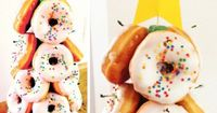 Donut Christmas tree - cute for a school party or christmas morning #supermommoments.com