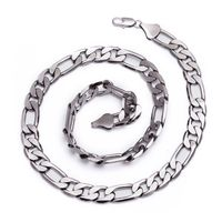 Figaro Gunmetal Hematite Plated Solid 12mm Chain Necklace £17.95