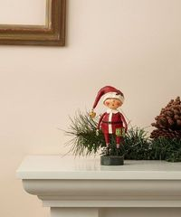Look at this #zulilyfind! Red Vintage-Inspired Young Santa Figurine #zulilyfinds