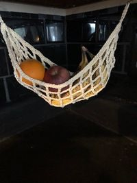 Crocheted Fruit Hammock - Easy to DIY
