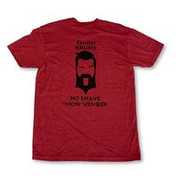 """LIMITED EDITION - THIGHBRUSH® - No Shave """"MOW""""vember - Men's T-Shirt - Cranberry and Black"""