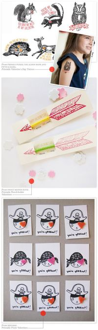 DIY & Printable Valentine Roundup: Part2 - Home - Creature Comforts - daily inspiration, style, diy projects + freebies