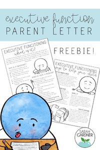 FREE parent letter explaining executive functioning skills to your parents