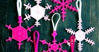 Two Sided Felt Snowflakes by purlbee #Snowflake Decorations #DIY #purlbee
