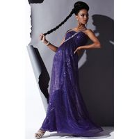 Purple Laser Studio 17 12342 - Crystals Open Back Sequin Dress - Customize Your Prom Dress