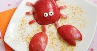 crabby apple. Snack idea when using Apologia Swimming Creatures. Healthy snack ideas for kids. #homeschool