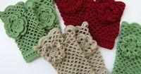 Fingerless Crochet Gloves Tutorial Pattern Pdf File, Gorgeous Crochet Arm Warmers With Flower Lyubava Crochet Pattern number 44. $4.99, via Etsy.