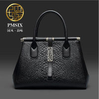 Genuine Leather Women bag Pmsix 2016 new fashion shoulder Messenger Bag Fashion serpentine handbag $188.00