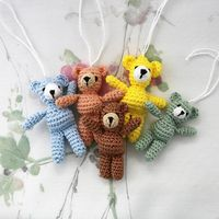Cute little teddy bear to hang as a luck charm on your child school bag or why not on your own handbag? thanks so for FREE PDF xox