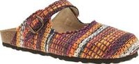 Schuh Purple Explore Womens Sandals Get out and Explore in bohemian style, with this vibrant design from schuh. The fabric upper is formed from threads of purple, orange, navy and off-white. A Mary-Jane style buckle strap, cork latex mi http://www.compare...