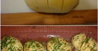 Sliced Baked Potatoes with Herbs and Cheese. Great side dish!