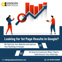 Are you looking for your website 1st page result in Google? Then you are at the very right place. Oddeven infotech is top seo services in india providing complete solutions for your website promotions online.