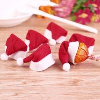 Pack of 10 Folded Down TINY Christmas Hats. Seasonal Tree Decoration. For Dolls, Xmas Craft, Gift, New Year, Clothes, Scrapbook and Cards £3.29