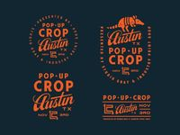 Created the identity system for Pop-Up Crop Austin. Exciting to see it live! The event is hosted by our very good friend Matt Dawson from Studio Gray and the ju