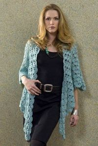"""Lightweight Zen Jacket   FaveCrafts.com - So pretty that it's on my """"I wish I could do this!"""" list"""
