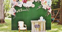 DIY Photo Booth Backdrop made with Cricut Explore -- East Coast Creative. #DesignSpaceStar Round 3