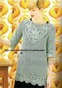 Crochet sleeve blouse �™�LCT-MRS�™� with diagrams.