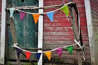 Ravelry: Farm Stand Flags (Knit) pattern by Sarah Young
