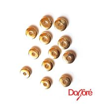 CLEARANCE Pack of 200 Gold Colour Plastic Round Donut Beads. 8mm Charms. Rondelle Spacers £7.69