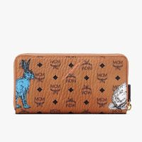 MCM Large Hide-and-Seek Rabbit Zip Around Wallet In Brown