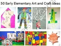 50 Early Elementary Art and Craft Ideas from The Art Teacher on TeachersNotebook.com (51 pages)