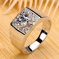 0.8 Ct Diamond Ring for Men Engravable Platinum Plated https://www.gullei.com/0-8-ct-diamond-ring-for-men-engravable-platinum-plated.html