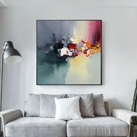 Modern Acrylic painting on Canvas green wall pictures on canvas extra Large Wall Art Pictures for living room $104.75