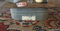 Galvanized trough coffee table