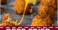 DEEP FRIED LOADED MASHED POTATO BITES loaded with bacon, cheese, and onions are perfect for Thanksgiving leftovers! Put those leftover mashed potatoes to good u