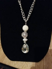 Tear Drop Crystal Necklace $10.00
