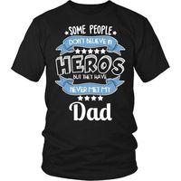 Dad T-Shirt, Dad Shirt, Dad The Hero T-Shirt, Gift for Dad, Dad Gift, Gift for Grandfather, Fathers Day $20.99