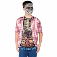 Skeleton With Guts Shirt Boys Costume Medium 6-8 https://costumecauldron.com