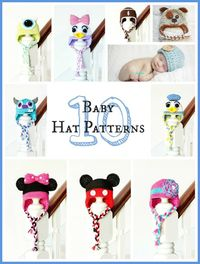 10 Free Adorable Baby Hat Crochet Patterns - Hopeful Honey | Craft, Crochet, Create
