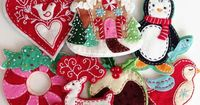 COMMERCIAL USE Felt Christmas Ornaments PDF Pattern by ericahite, $15.00