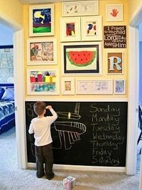 kids room design with ideas for chalk board paint in hallway
