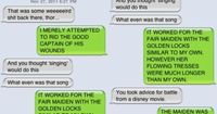 When Avengers text: Tangled inspires Thor